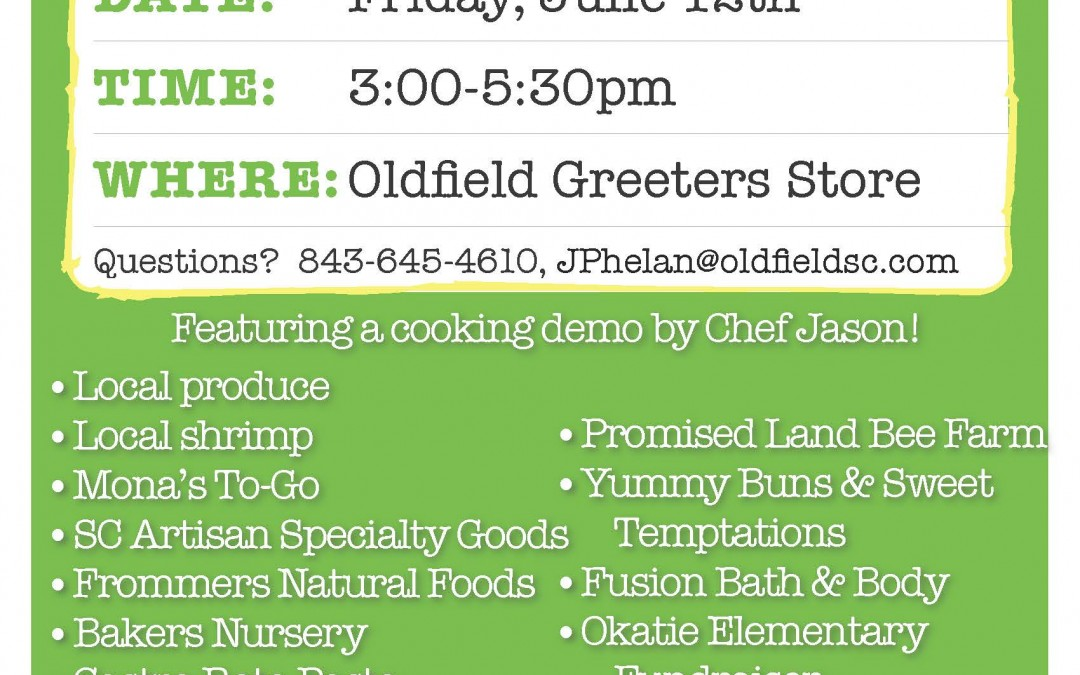 Farmer's Market – June 12!