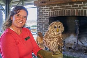 Jill with Owl Web