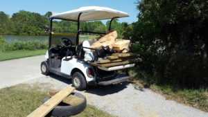 River Clean Up_filled golf cart